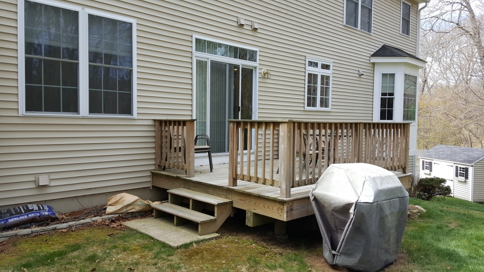 New Pvc Deck With Angled Box Treads