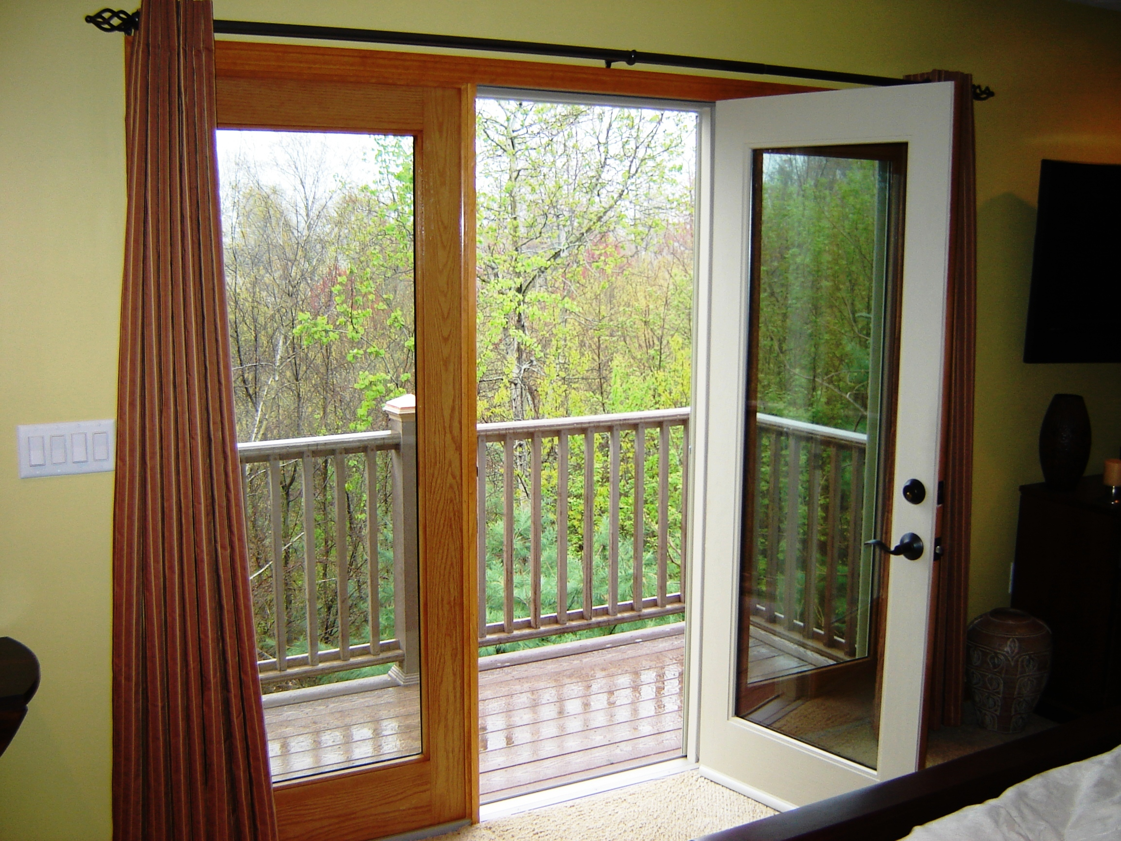 Master bedroom balcony for French door designs for balcony