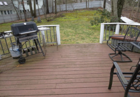 Before- Weathered PT Decking